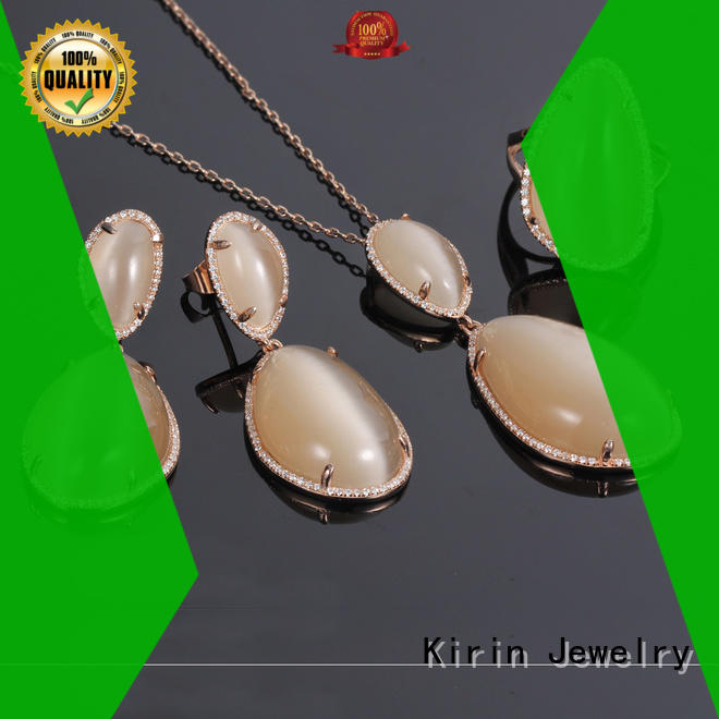 Kirin excellent cubic zirconia necklace and earring set free design for mother