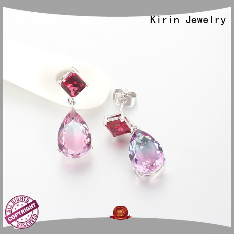 Kirin gift sapphire jewelry earrings factory price for lover
