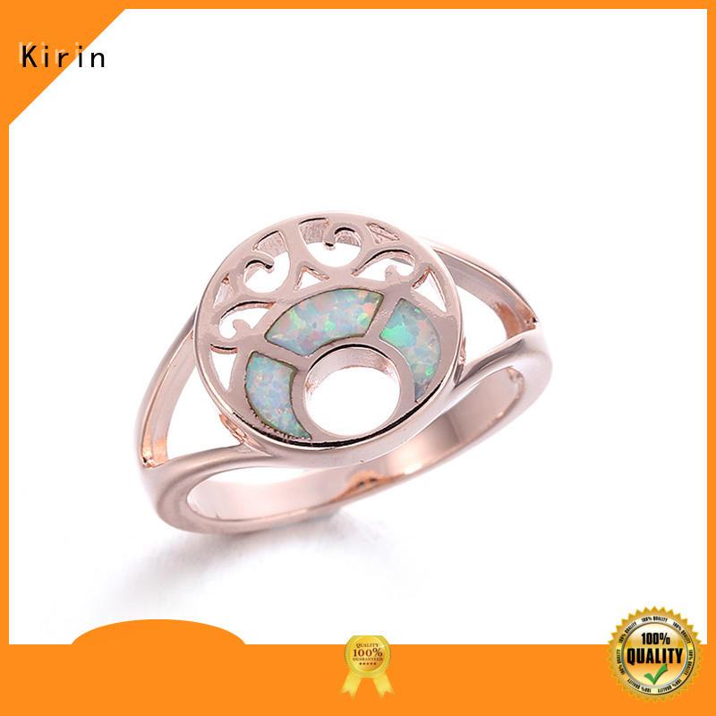 Kirin customized sterling silver heart ring bulk production for mother