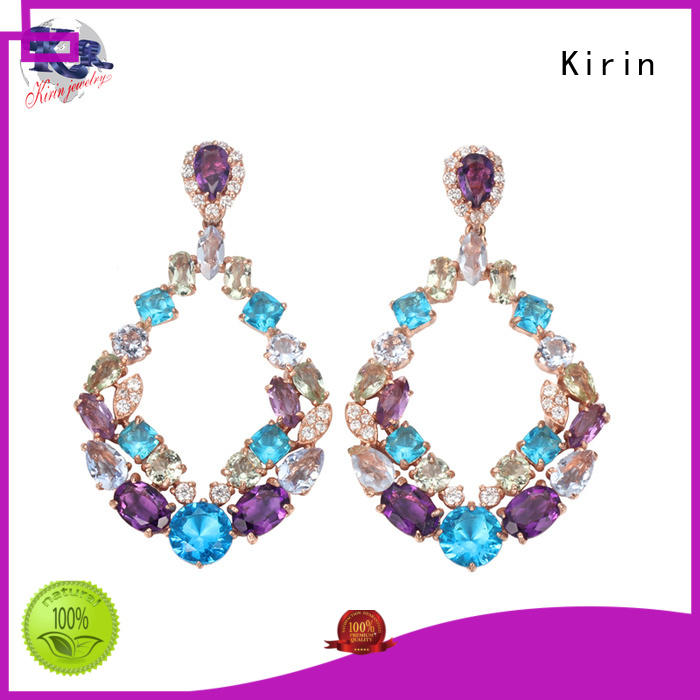 Kirin genuine sterling silver stud earrings set from manufacturer for mate