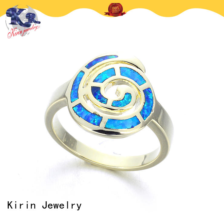 Kirin superb silver opal ring China Factory for female