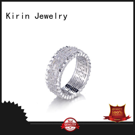 round stackable cz OEM baguette jewelry Kirin Jewelry