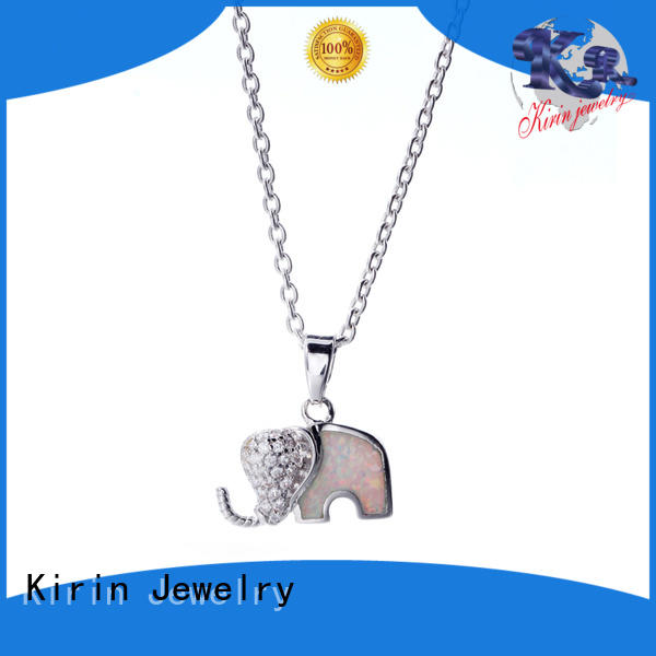 womens sterling necklace with many colors for female Kirin Jewelry