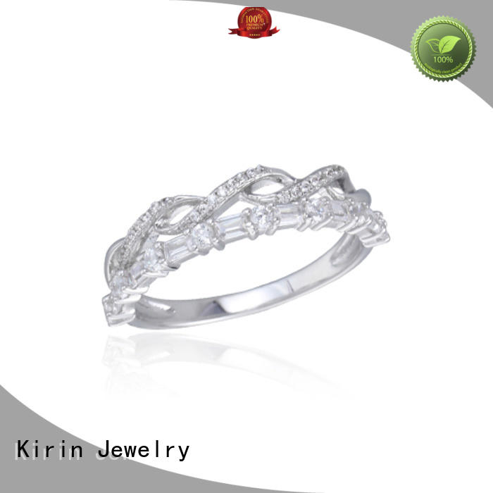 Kirin Jewelry Brand white plated sterling baguette jewelry