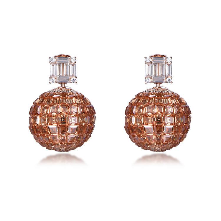 Best Sale Ruby Gem 925 Silver Invisible Setting Dangle Stud Earrings For Women