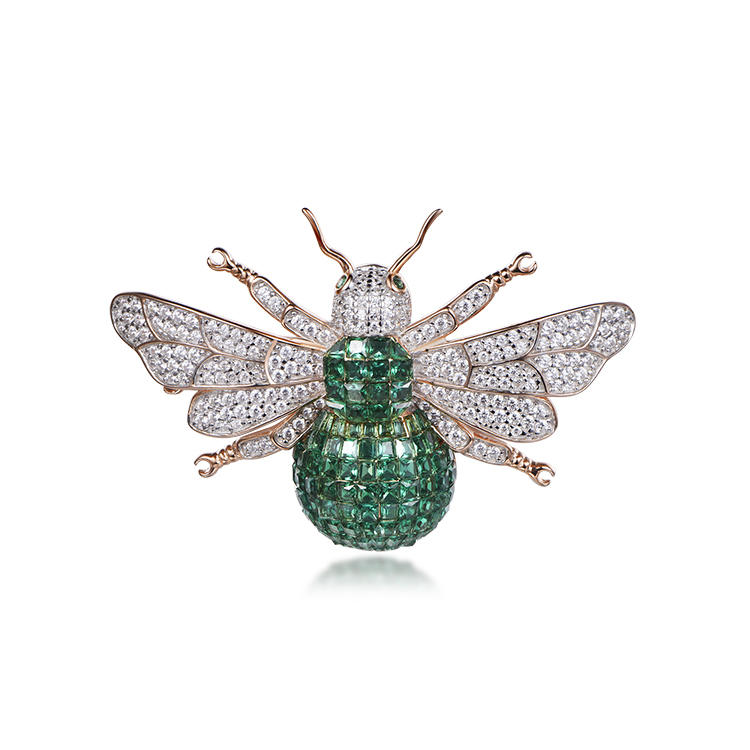 Factory wholesale bee brooch jewelry set wasp invisible brooch