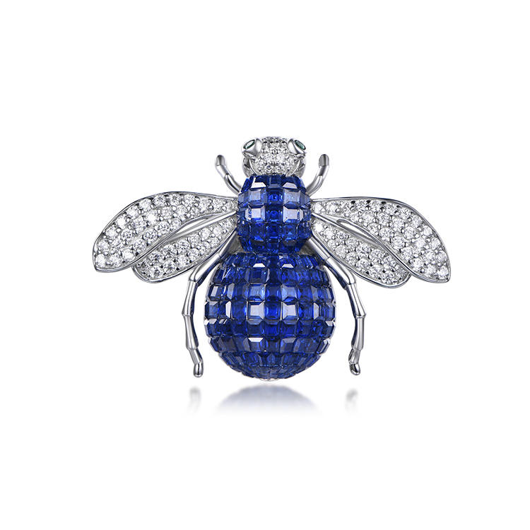 Factory provides wholesale bee - shaped invisible inlay brooch