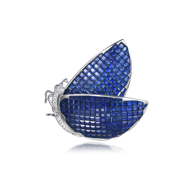 New luxury noble Insect butterfly shape invisible setting brooch