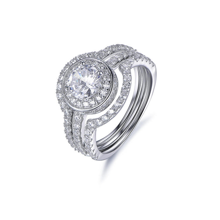 Kirin Jewelry Wholesale Custom Jewelry S925 Sterling Silver Engagement Ring Women Diamond Ring