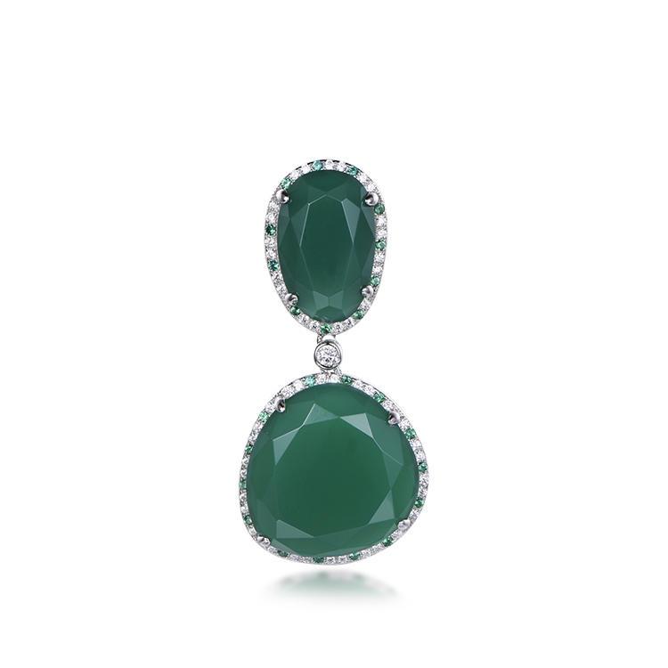 Atmospheric Fashion Pendants Gemstone Emerald Necklace Pendant Jewelry