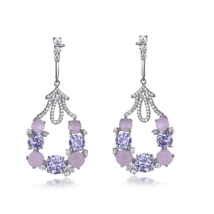 Sweet and lovely purple earrings fo rsister party earrings