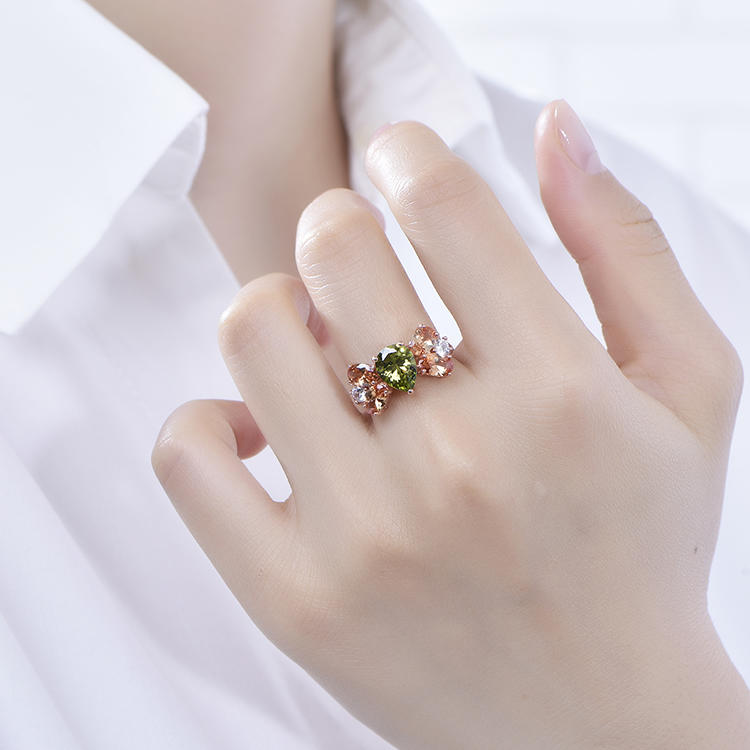 New Design Freshness Rings Vogue Colorful Gemstone Zircon Ring For Women