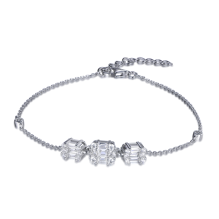 product-Kirin -New European Concise Style Zircon 925 Sterling Silver Bracelets-img