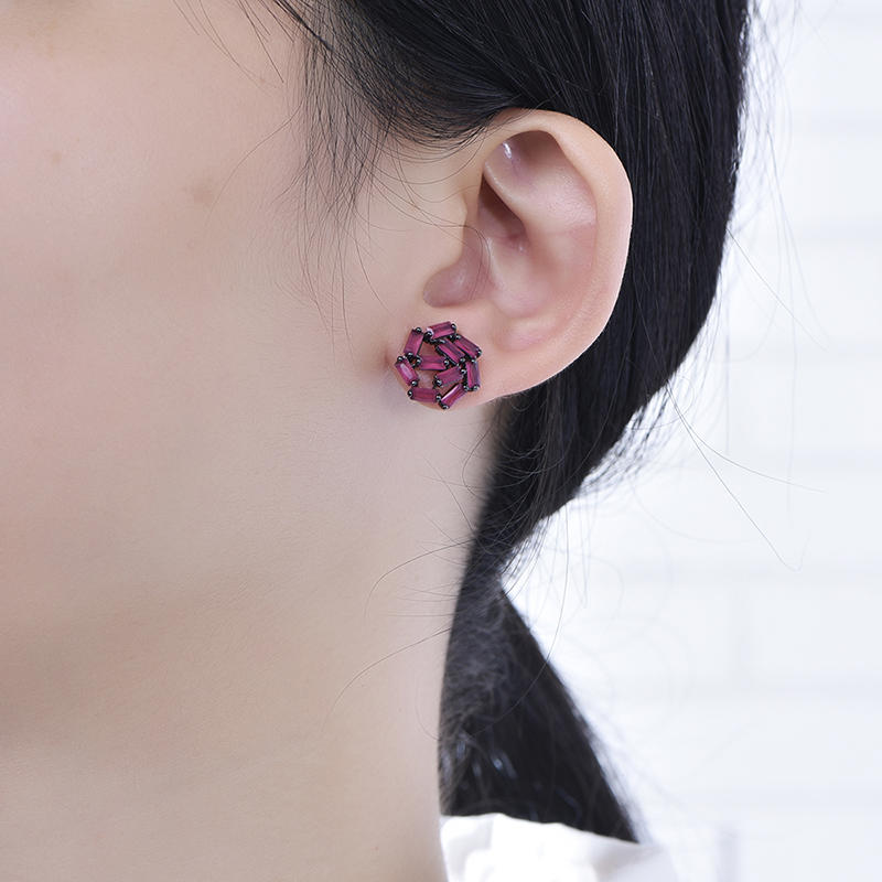Simple fashionable girls stone earrings