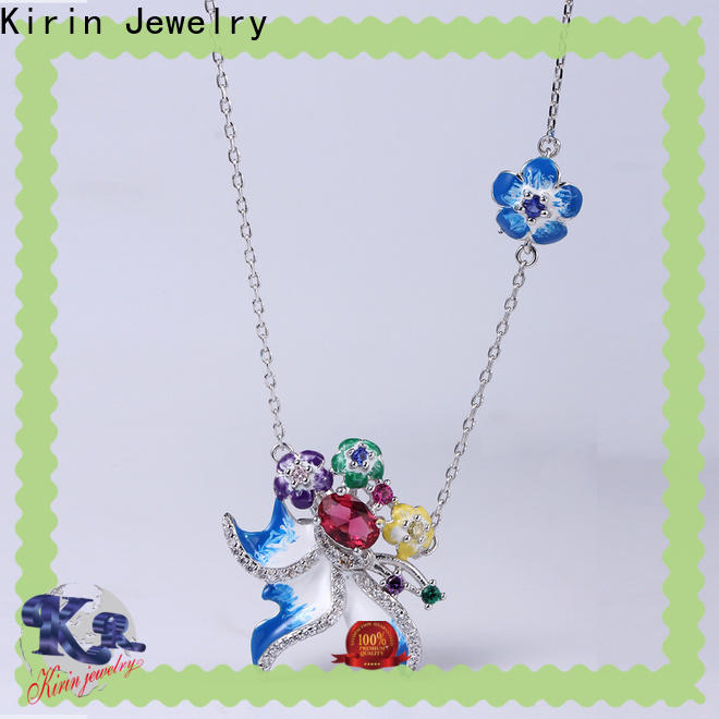 Kirin nice silver jwellery set customization for mom