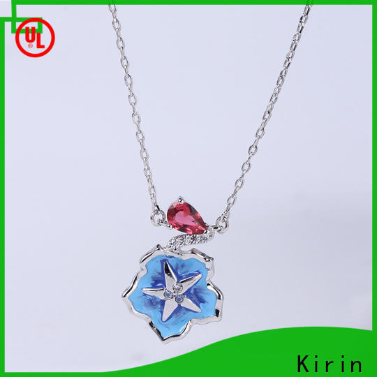 Kirin gorgeous ladies necklace and bracelet sets by Chinese manufaturer for woman