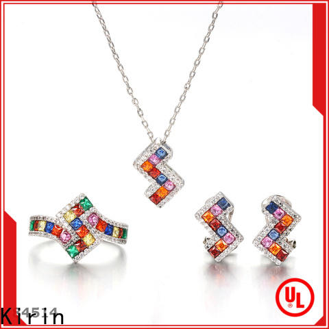 Kirin square rainbow sapphire jewelry Suppliers for girlfriend