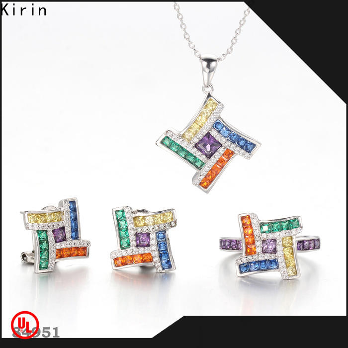 superb rainbow colored jewelry pendants from China for woman