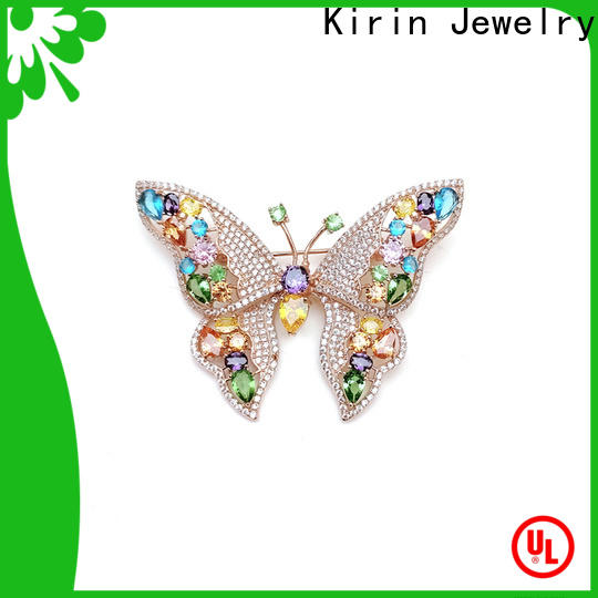 Kirin splendid silver brooches and pins Suppliers for female