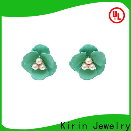 Kirin fashion small silver earrings from manufacturer for girl