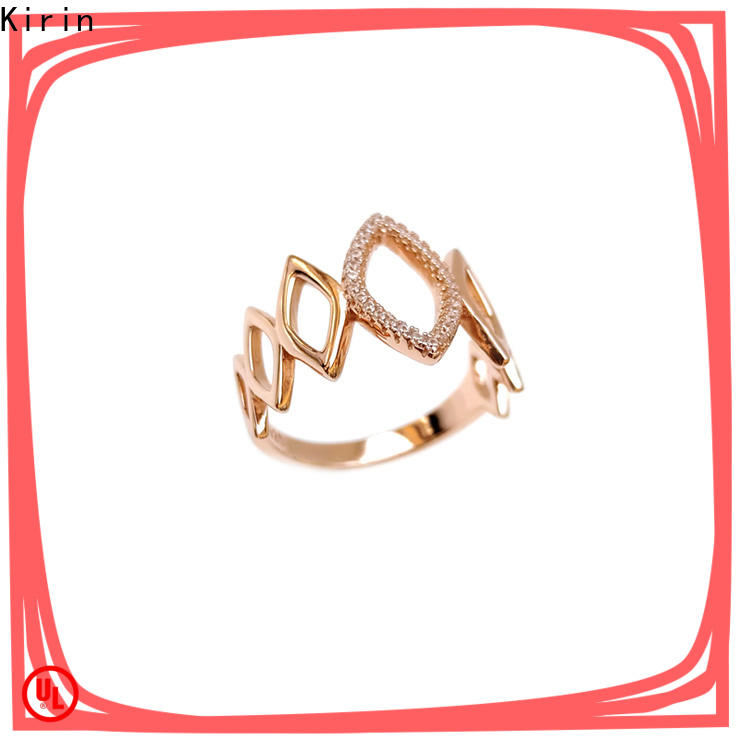 High-quality solid silver rings for women circle inquire now