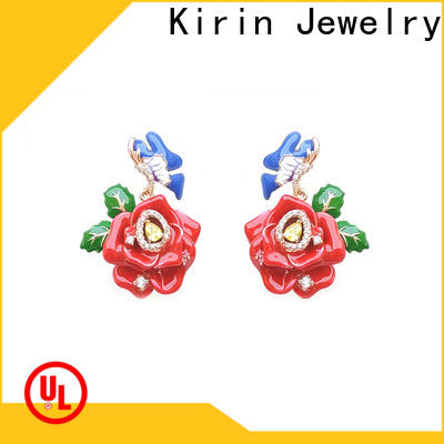 Kirin jewlery sterling silver drop earrings for business for partner